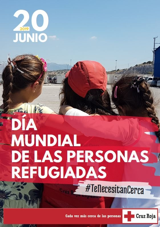 CARTEL DIA REFUGIADOS CRUZ ROJA 2019